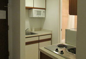 extended stay kitchen area